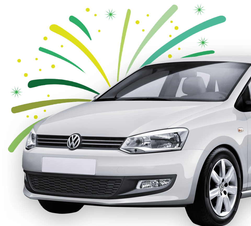 Volkswagen car that you can win by scanning with Scanycash.